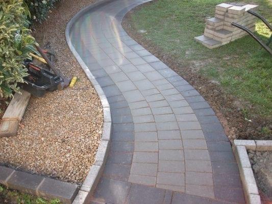 Curved Brick Pathway