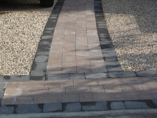 Paving and Gravel Driveway
