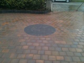 Corrib Driveway with Circle Detail