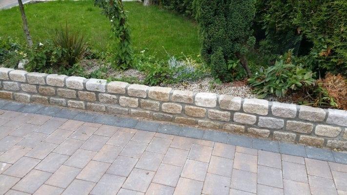 Corrib Driveway with Granite Wall