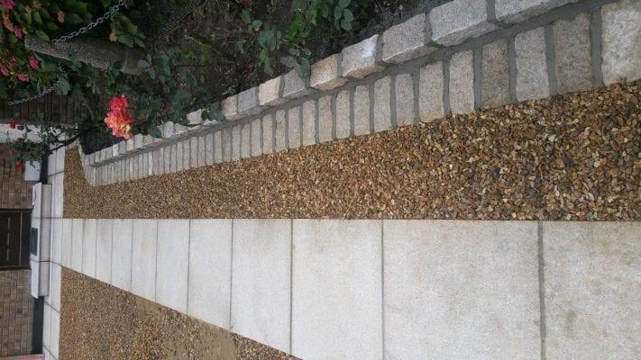 Gravel with Granite Border