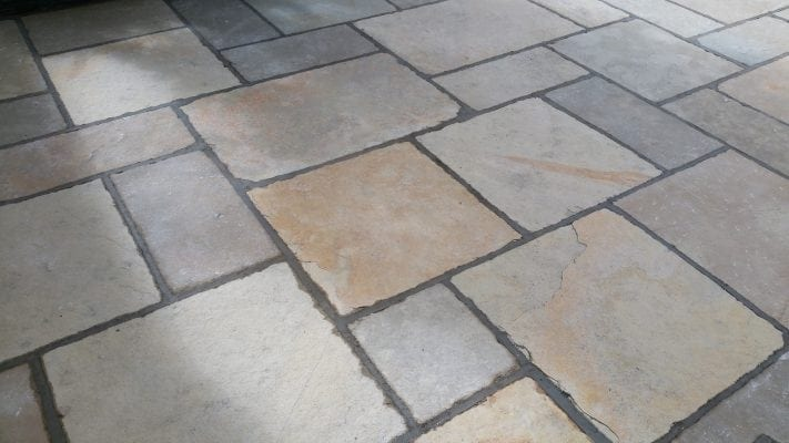 Yellow Limestone Patio