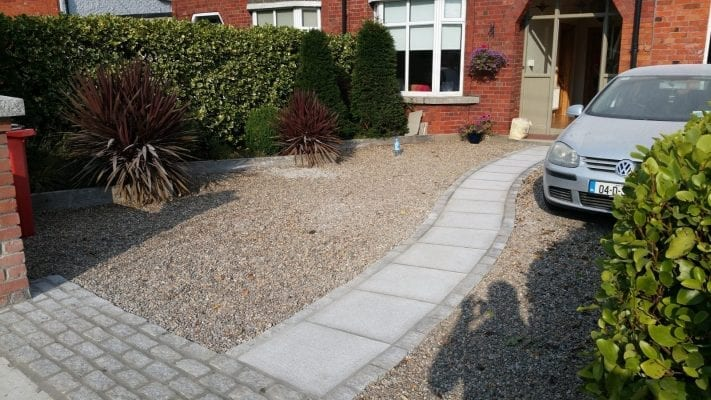 Gravel with Granite Path