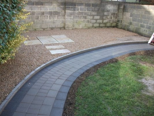 Gravel with Curved Pathway