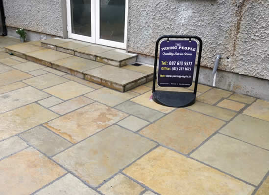 Paved Back Garden Patio in Dublin